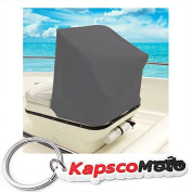Boat Centre Console Cover Storage Cover- 100cm L x 120cm W x 110cm H - Grey Heavy Duty Water, Mildew, and UV Resistant Thick Polyester Fabric + KapscoMoto Keychain