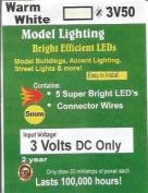 3v 5mm warm white LED by