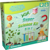 Science4You Super Science Kit 6-in-1 Educational Science Toy Super Science Experiment Kit 6 in 1 By Science4 You Engages Children in Fine Motor Skills For Ages 8+