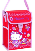 Hello Kitty Insulated Cooler Lunch Box Tote Bag with Aluminium Foil Lining Red