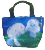 Manatee Lunch Bag with Matching Zipper Charm - Animals, Full Insulated - Lunch Cooler