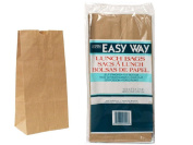 60-Piece Brown Paper Lunch Bag