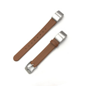 Meiruo Leather Strap Wristband with Metal Watch Buckle for Fitbit Alta / Fitbit Alta HR