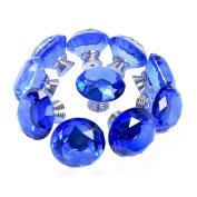 TankeDirect Crystal Handle Knob for Desk Drawer Glass Cabinet Knobs 10 Pcs 30mm