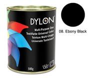 Dylon Ebony Black Multi-Purpose Dye 500g Tin