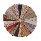 ROSENICE Cotton Fabric Quilting Fabric Bundles Sewing Patchwork Cloths DIY Craft,25pcs