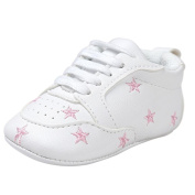 Jamicy Newborn Infant Kids Baby Five-pointed Star Bandage Toddler Casual Sneakers Soft Sole Shoes