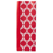 Solid Cherry Red and Red Geometric Pattern Dual-Pack Tissue Paper