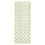 Chartreuse Polka Dot Tissue Paper
