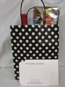 """Gift Bags & Gift Cards – 6 Gift Bags & 6 Gift BIRTHDAY WISHES Cards with Envelopes. Card size 5 ¾"""" x 4 ½"""" . Bag size 10"""" High x 8 """" Wide x 4 ¾"""" Deep """" – Both ítems Made in USA"""