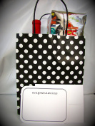 """Gift Bags & Gift Cards – 6 Gift Bags & 6 Gift CONTRATULATIONS Cards with Envelopes. Card size 5 ¾"""" x 4 ½"""" . Bag size 10"""" High x 8 """" Wide x 4 ¾"""" Deep """" – Both ítems Made in USA"""
