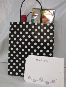 """Gift Bags & Gift Cards – 6 Gift Bags & 6 Gift THANK YOU Cards with Envelopes. Card size 5 ¾"""" x 4 ½"""" . Bag size 10"""" High x 8 """" Wide x 4 ¾"""" Deep """" – Both ítems Made in USA"""