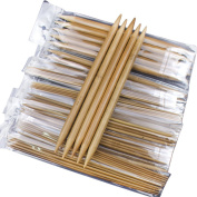 75pcs 20cm Double Pointed Bamboo Knitting Needles Sweater Set Crochet Collection((2mm To 10mm) ) 15 Sizes