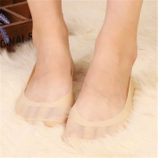 Excellent.advanced 1 Pair Women Shallow mouth silicone Anti-skid ice silk sock