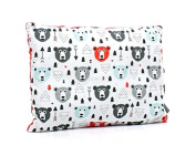 Milutka baby Pillow 40cm x 60cm MINKY fabric cotton BEAR red