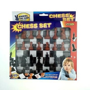 Plastic Chess Pieces International Chess Checkers Set wi/ 180mm Chessboard