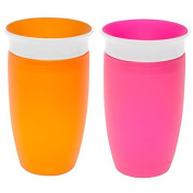 Munchkin Miracle 360 Sippy Cup, Pink/Orange, 300ml, 2 Count by Munchkin