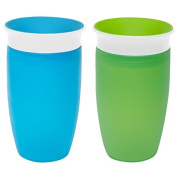 Munchkin Miracle 360 Sippy Cup, Green/Blue, 300ml, 2 Count by Munchkin