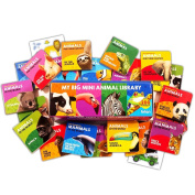 Animal Board Book Super Set For Toddlers Babies -- 20 Mini Board Books