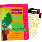 Chicka Chicka Boom Boom Board Book Set For Kids Toddlers with Stickers