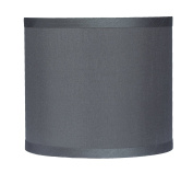 Urbanest Faux Silk Drum Lampshade, 20cm By 20cm By 18cm , Grey, Spider Fitter