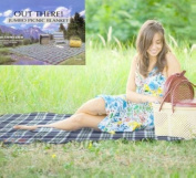Out There Jumbo Family Sized Tartan Picnic Rug Travel Blanket 3m x 2.2m