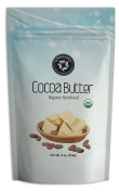 ONbeauty USDA Certified Organic Cocoa Butter - 240ml, FOOD GRADE - Raw Unrefined - FREE Downloadable Recipe eBook