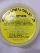 afrikaimports Whipped African Shea Butter Soft Creamy, 240ml, Yellow