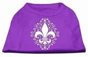 Henna Fleur De Lis Screen Print Shirt Purple Med