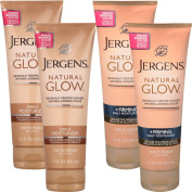 Jergens 4 Pack Natural Glow Sunless Tanning Body Lotion Firming Daily Moisturiser