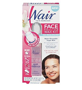 Nair Face Roll-On Hair Remover Wax Kit + FREE Scunci Effortless Beauty Black Clips, 15 Count
