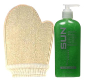 Sun Laboratories - Loofah Sponge Mitt with Exfoliant Body Gel Purifying Skin Softener