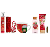 Jarosa's Ultimate Set of Bath & Body Works WINTER CANDY APPLE Mist with Sleeve, Lotion & Body Cream, WRAP QUEEN PocketBac with Holder, & STARBUCKS Mug with a Jarosa Organic Chocolate Bliss Lip Balm