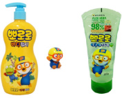 Pororo Body Wash, Pororo Bathing Water Gun Doll and Aqua Soothing Gel