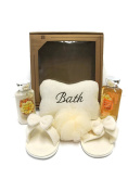 Mothers Day Bath and Body Works Warm Vanilla Sugar Shower Gel Body Wash Rest and Relaxtion Gift Set Bundle of 6 items