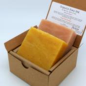 Rose & Ylang Ylang Soap Set (2 Full Size Bars) - Rose, Ylang Ylang - 85% Organic Ingredients All Natural FACE and BODY - Great for SENSITIVE SKIN