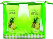 Mellow 2 Piece Shower Gel and Body Lotion Gift Set, Tropical Pineapple