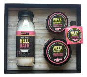 Walton Wood Farm Women Smell Pretty Bath Products Gift Set with Mini Week from Hell Hand Rescue