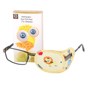 Plinrise Pure Cotton Amblyopia Eye Patch For Glasses,Treat Lazy Eye,Amblyopia And Strabismus,Eye Patch For Children,Regular Size - Lion