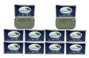 Dead Sea Mud Soap 130ml 10 Pack (10 Soap Bars) by Natural Elephant