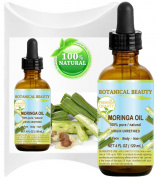 MORINGA OIL - Moringa oleifera WILD GROWTH Himalayan. 100% Pure / Natural / Undiluted/ Virgin / Unrefined. 4 Fl.oz.- 120 ml. For Skin, Hair, Lip and Nail Care.