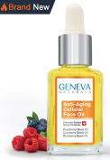 Geneva Naturals Anti-Ageing Cellular Face Oil with Raspberry, Cranberry, and Blueberry Seed Oil - 30ml