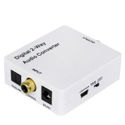 Video Connectors and Adapter, HDV-2CT Mini Digital 2-way Audio Converter, Coaxial to Toslink or Toslink to Coaxial