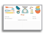 Chef's Recipe Cards - 50 Double Sided Cards, 10cm x 15cm . Thick Card Stock
