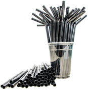 200PCS Disposable Plastic Long Flexible Drinking Straws for Bar/Party/ And Home