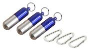 3 PCS Portable Toothpick Box Pocket Waterproof Toothpick Holder Metal Pill Case Keychain Cotton Swab Box Outdoor Tool Travel Kit Tableware