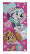 Official Paw Patrol Pals Pink Beach Bath Cotton Towel Skye Everest