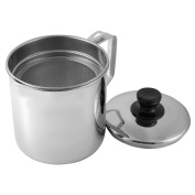 Tebery Stainless Oil Storage Grease Strainer Pot 1.8l