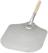 Kitchen Supply 30cm x 36cm Aluminium Pizza Peel with Wood Handle by Kitchen Supply