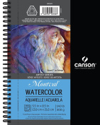 Canson Artist Series Watercolour Pad, 14cm x 22cm Side Wire